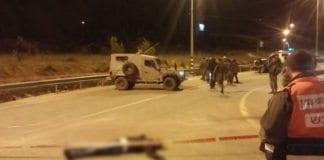 Åstedet for et knivangrep i Gush Etzion torsdag 7. januar. (Foto: Gush Etzion kommune)