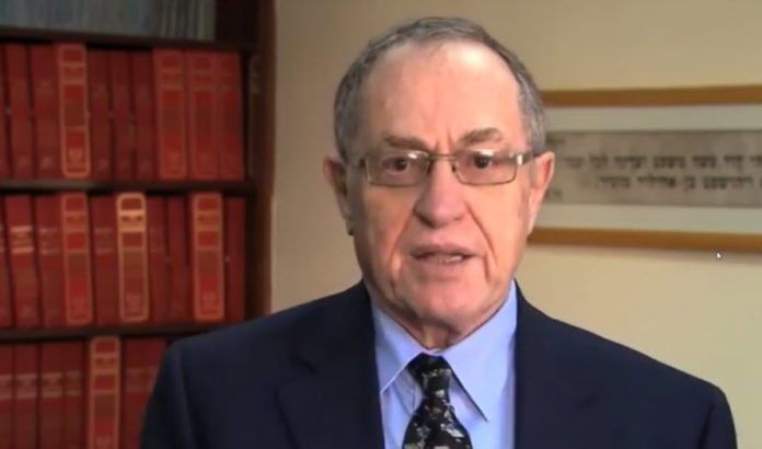 Alan Dershowitz. (Skjermdump fra video)