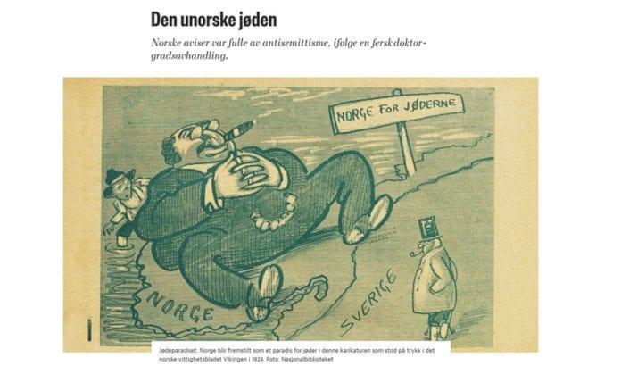 Skjermdump fra Morgenbladet.