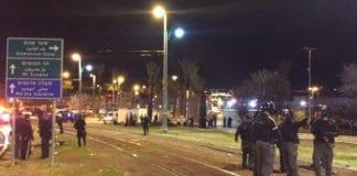 Åstedet for skyteangrepet ved Damaskus-porten i Jerusalem søndag 14. februar. (Foto: Det israelske politiet)