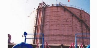 Ammoniakktank på anlegget i Haifa. (Foto: Haifahaifa.co.il)