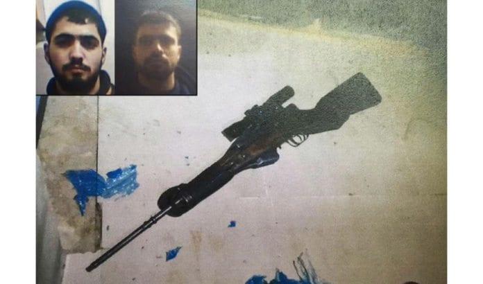To brødre (innfelt) er arrestert for skyteangrep med dette våpenet. (Foto: Shin Bet via Jerusalem Post)