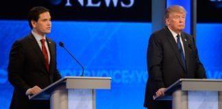 Marco Rubio og Donald Trump i en tidligere tv-debatt. (Foto: Ida Mae Astute, ABC, flickr)