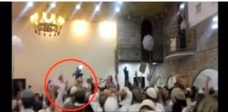 Skjermdump fra bryllupsvideoen slik den ble sendt på israelsk tv i desember 2015 (via Dagbladet.no).