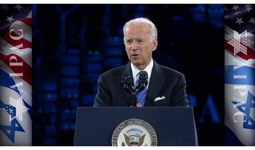 USAs visepresident Joe Biden. (Skjermdump fra AIPAC-tale 20. mars 2016)