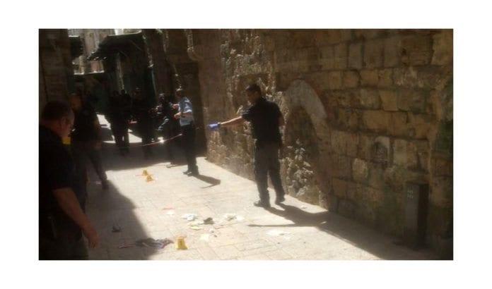 Her begikk en palestinsk kvinne knivangrep mot israelsk politi tirsdag 8. mars 2016. (Foto: Det israelske politiet)