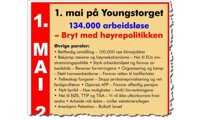 Faksmile av LO i Oslos invitasjon til 1. mai 2016.