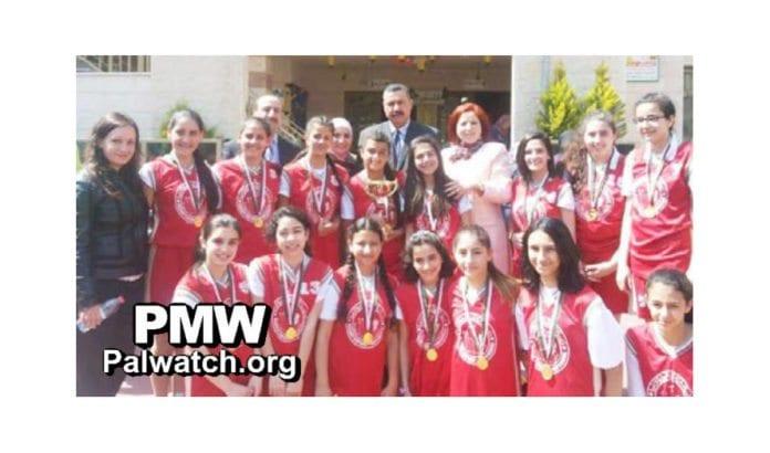 Bilde fra Dalal Mughrabi Cup via Palestinian Media Watch.