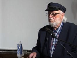 Jahn Otto Johansen holder foredrag i MIFF Oslo. (Foto: Skjermdump fra YouTube)