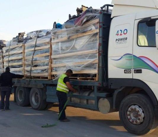 Her avdekker israelske grensevakter et forsøk på å smugle inn skuddsikre plater til Gaza, gjemt blant et lastebillass med bildeler. Bildet er tatt i desember 2015. (Illustrasjonsfoto: Det israelske forsvarsdepartementet)