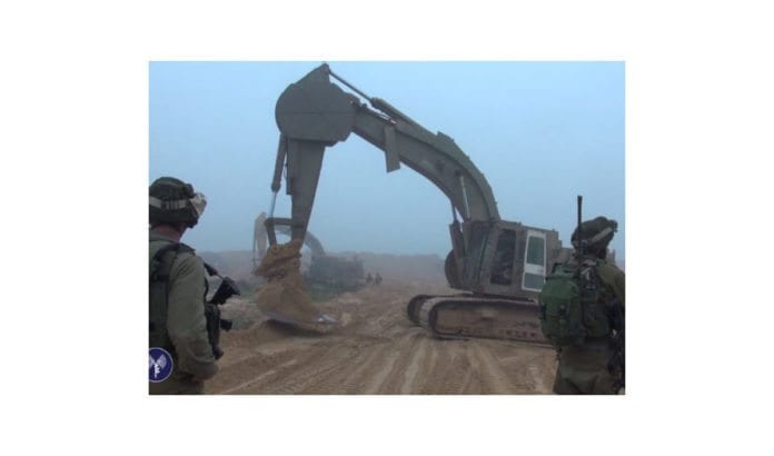 Israelske styrker arbeider for å oppdage og ødelegge angrepstunnelen til Hamas. (Foto: IDF)
