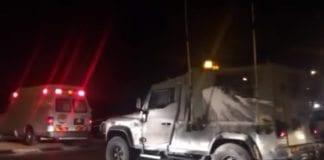 Åstedet for bombeangrepet tirsdag kveld. (Foto: Skjermdump fra YouTube via Times of Israel)