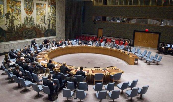Her er FNs sikkerhetsråd samlet til møte onsdag 25. mai 2016. (Foto: FN / Manuel Elias)