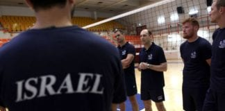 Noen av spillerne på Israels landslag i volleyball (Foto: Israels volleyballforbund)