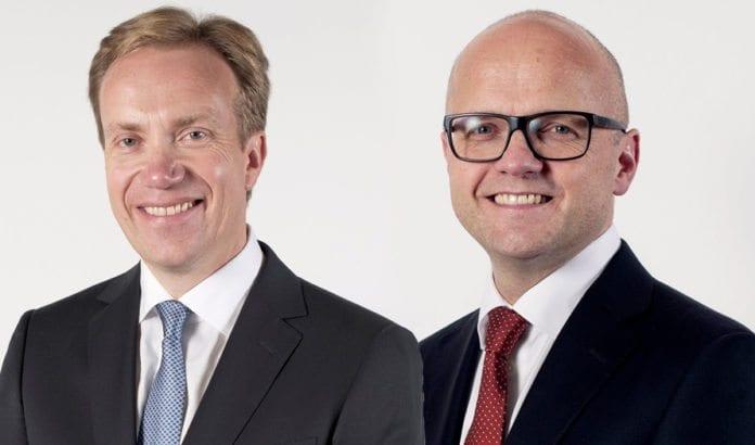 Utenriksminister Børge Brende og klima- og miljøminister (tidligere europaminister) Vidar Helgesen. (Foto: Statsministerens kontor)