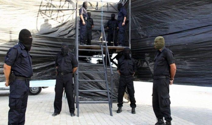 Dette bildet viser forberedelsene til en henrettelse i Gaza i 2013. (Illustrasjonsfoto: Hamas-myndighetenes innenriksdepartement i Gaza)