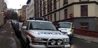 Det var et stort politioppbud i området rundt synagogen i Bergstien fredag morgen. (Arkivfoto: MIFF)