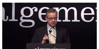 Storbritannias justisminister Michael Gove. (Skjermdump fra Algemeiners YouTube-opptak)