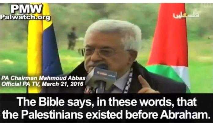 Mahmoud Abbas på PA TV 21. mars 2016. (Skjermdump via PMW)