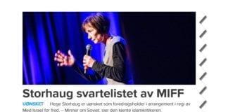 Unyansert overskrift i avisen Dagen.