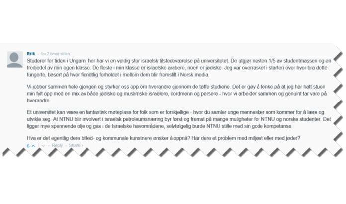 Skjermdump fra kommentarfeltet til Adresseavisen 22. juni 2016.Skjermdump fra kommentarfeltet til Adresseavisen 22. juni 2016.
