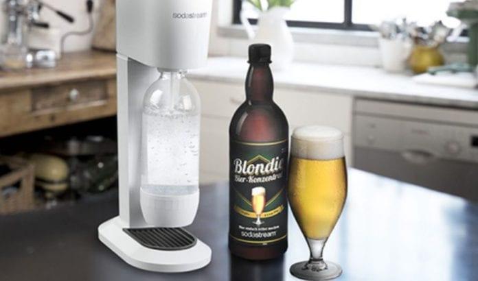 Dette ølet kan lages på sekunder (Foto: Skjermdump fra Sodastream)