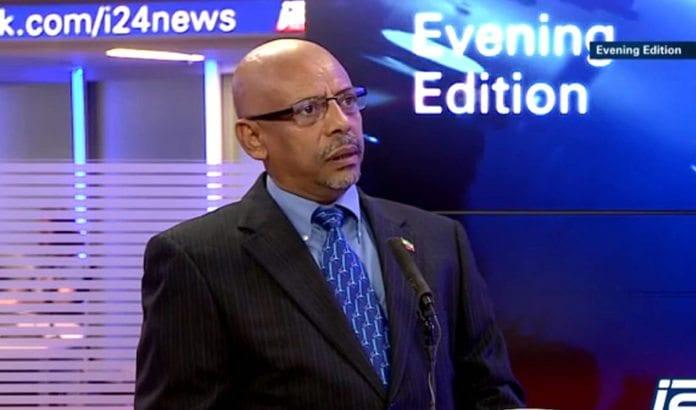 Etiopias ambassadør til Israel, Helawe Yosef Mengistu. (Foto: Skjermdump fra i24 News)