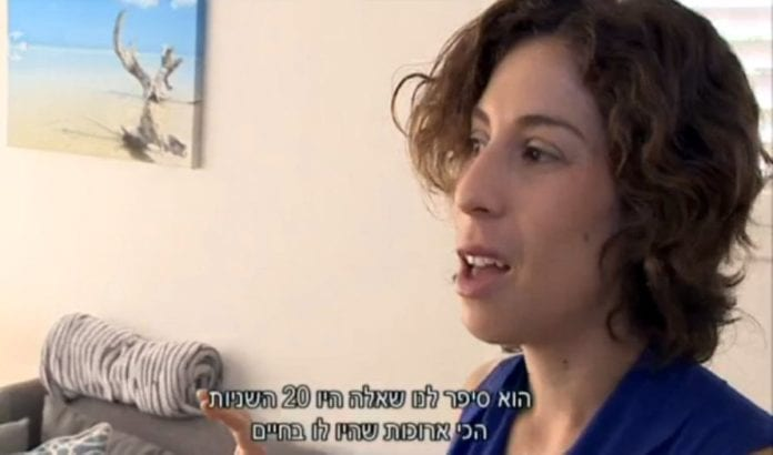 Ofri Hefetz-Grady (Foto: Skjermdump fra Kanal 10 via Times of Israel)