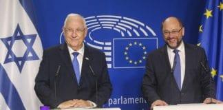 Israels president Reuven Rivlin sammen med Europa-parlamentets president Martin Schulz onsdag 22. juni 2016. (Foto: EU2016 / Europa-parlamentet / Flickr.com / CC)