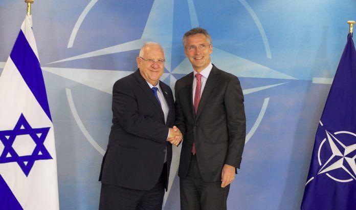 Israels president Reuven Rivlin møtte NATOs generalsekretær Jens Stoltenberg tirsdag 21. juni 2016. (Foto: NATO)