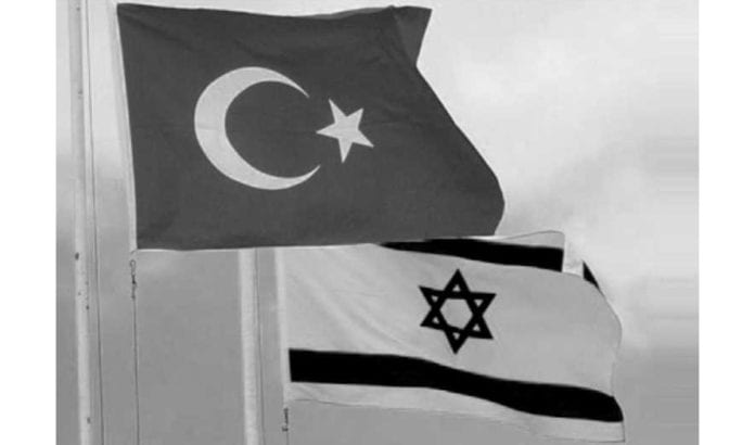 Israelsk og tyrkisk flagg. (Illustrasjonsfoto: Privat via Jerusalem Post)