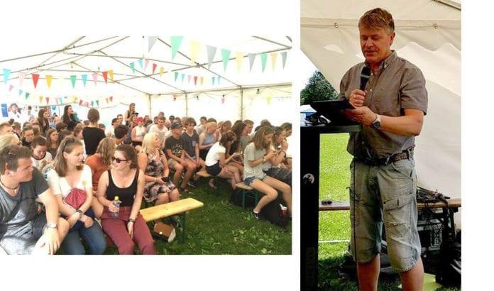 Bengt-Ove Nordgård forklarte Israels sak til deltakerne på Spekter-festivalen. (Foto: MIFF)