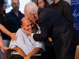 Tidligere president Shimon Peres på en 40-årsmarkering for Operasjon Entebbe ved Peres Center for Peace in Tel Aviv. (Foto: Ben Kelmer/FLASH90)