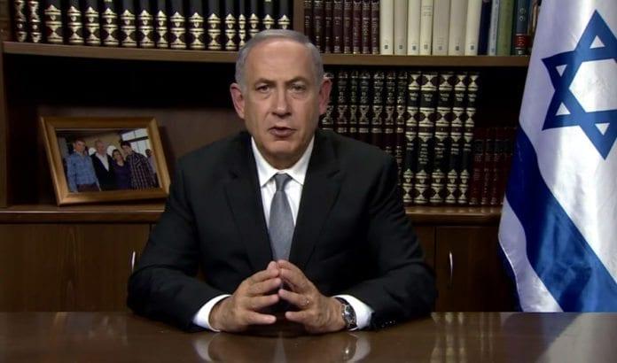 Netanyahu kom med videohilsen til Abbas 14. juli 2016. (Foto: Skjermdump fra YouTube)
