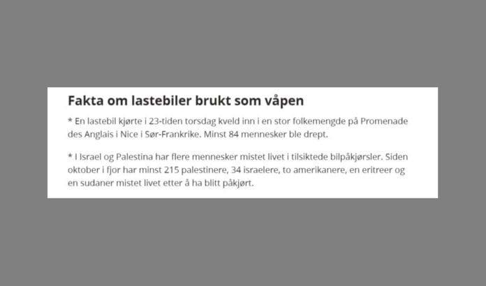 Skjermdump fra avisen Nordlys.