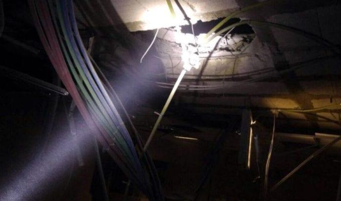 Raketten gjorde betydelig skade på barnehagen (Foto: Israelsk politi)