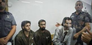 De tre mennene på bildet har tilstått å ha stått bak skyteangrepet i Tel Aviv der fire personer ble drept 8. juni 2016. (Foto: Flash90)