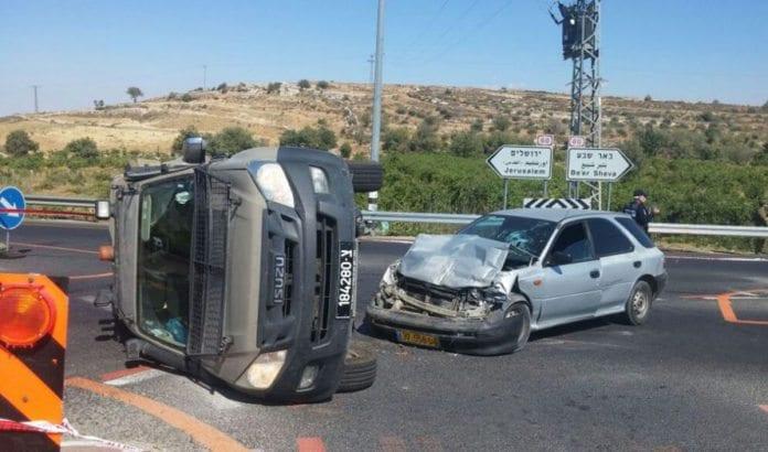 Åstedet for bilangrepet 6. juli 2016. (Foto: Israelsk politi)