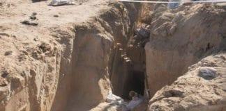 Denne terrortunnelen som førte fra Gaza til Israel, ble funnet av israelske styrker i april 2016. (Foto: IDF)