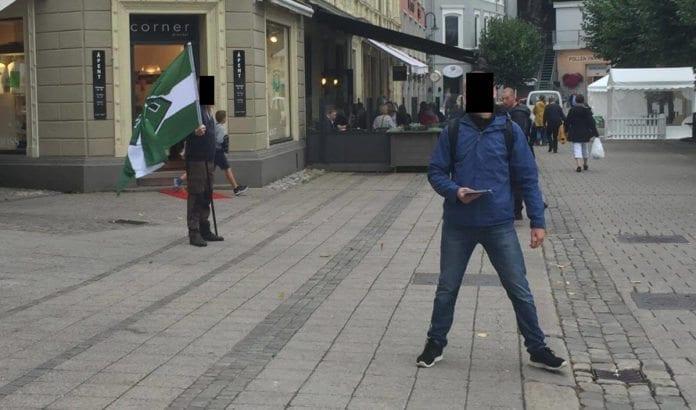 Nynazister på Arendalsuka 20. august 2016. (Foto: Kristoffer Vikan, MIFF)