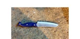 Denne kniven ble brukt i angrepet søndag 14. august. (Foto: Samarias regionale myndigheter)