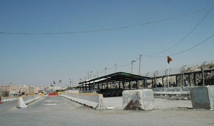 Kontrollposten Kalandiya, rett nord for Jerusalem. (Illustrasjonsfoto: Wikipedia)