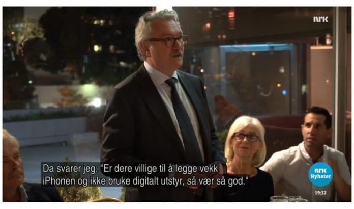 Norges ambassadør til Israel, Jon Hanssen-Bauer, på NRK Søndagsrevyen 16. oktober 2016.