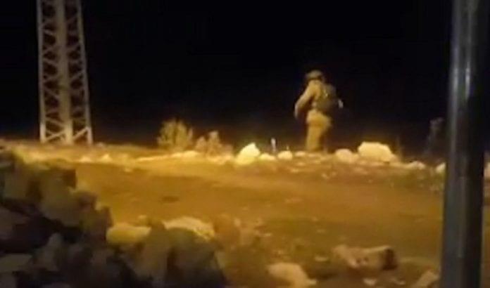 Åstedet for skytingen lørdag kveld (Foto: Judea og Samaria redningstjeneste)