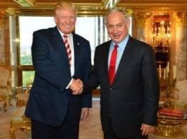 Donald Trump og Benjamin Netanyahu i New York 25. september 2016. (Foto: GPO)