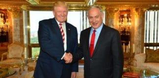 Donald Trump og Benjamin Netanyahu i New York 25. september 2016. (Foto: GPO)
