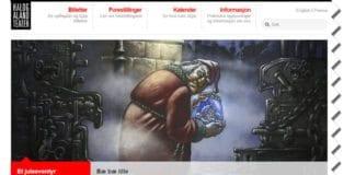Skjermdump fra nettsiden til Hålogaland Teater.