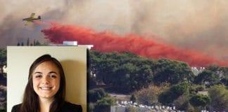 MIFFs journalist Elisabet Meltvik kom nært på brannen i Haifa 24. november 2016. (Foto: David King, flickr)
