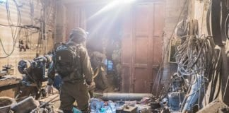 IDF gjorde så langt sine største våpen -og ammunisjonsbeslag da de aksjonerte i Hebron søndag og natt til mandag 19. desember 2016. (Foto: IDF)