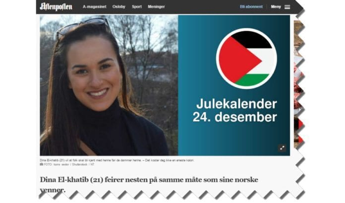 Skjermdump fra Aftenposten 25. desember 2016.
